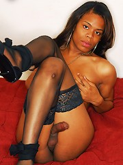Meeting a tranny like this must be Destiny! Just like her name, black tgirl Destiny is the fantasy of many men. Looking orgasmic in her black corset a