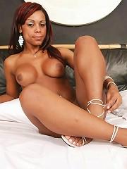 Super-hot tranny Priscila exposes her bubble butt